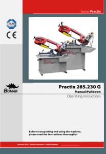 Bomar Practix 285.230G manual